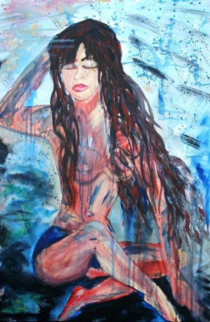 Art: BEAUTY IN THE RAIN by Artist LUIZA VIZOLI