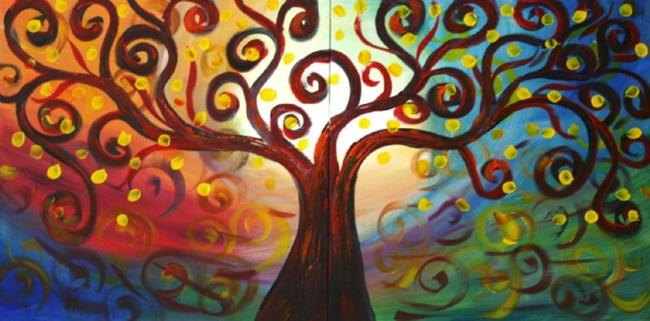 Art: Inner Journey no.2-Custom Painting by Artist LUIZA VIZOLI
