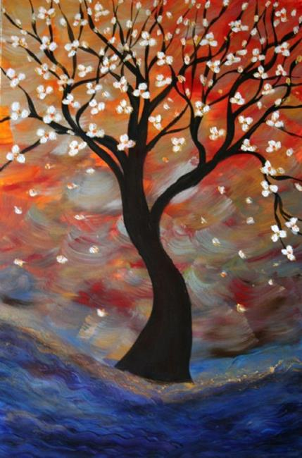 Art: CUSTOM PAINTING-EARLY BLOOMING -sold by Artist LUIZA VIZOLI