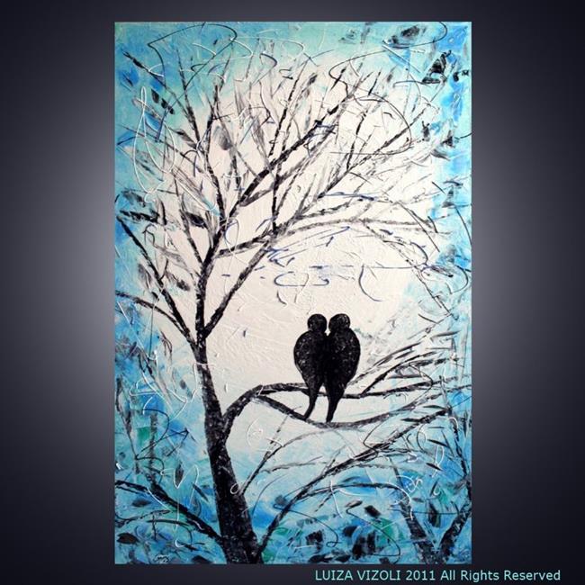 Art: Birds in Moonlight by Artist LUIZA VIZOLI