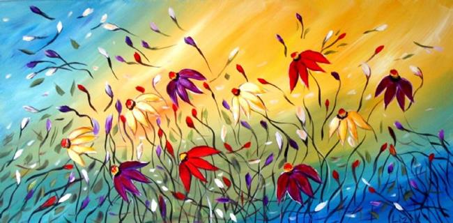 Thế giới Tình yêu - Page 2 WINDY-DAY-FLOWERS-Custom-Painting-for-RITA-sold