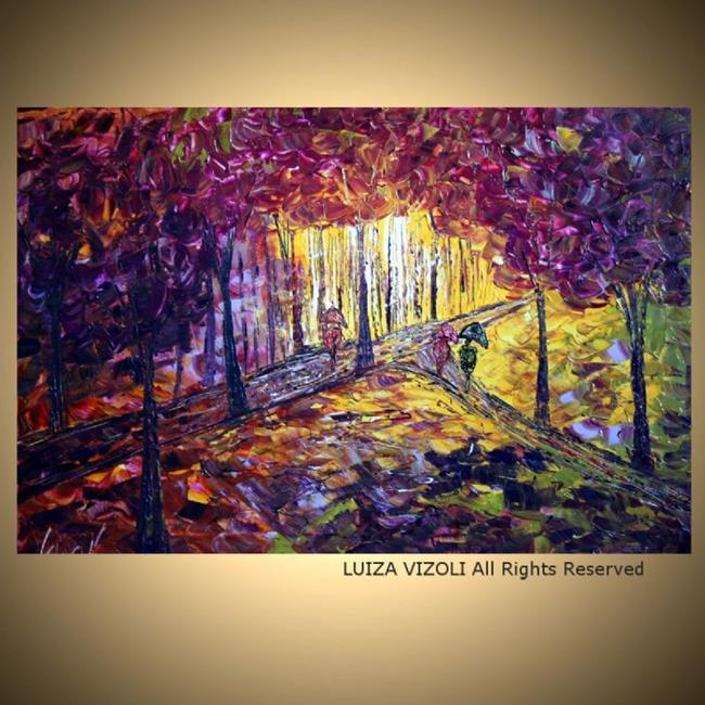 Art: Purple Rain by Artist LUIZA VIZOLI