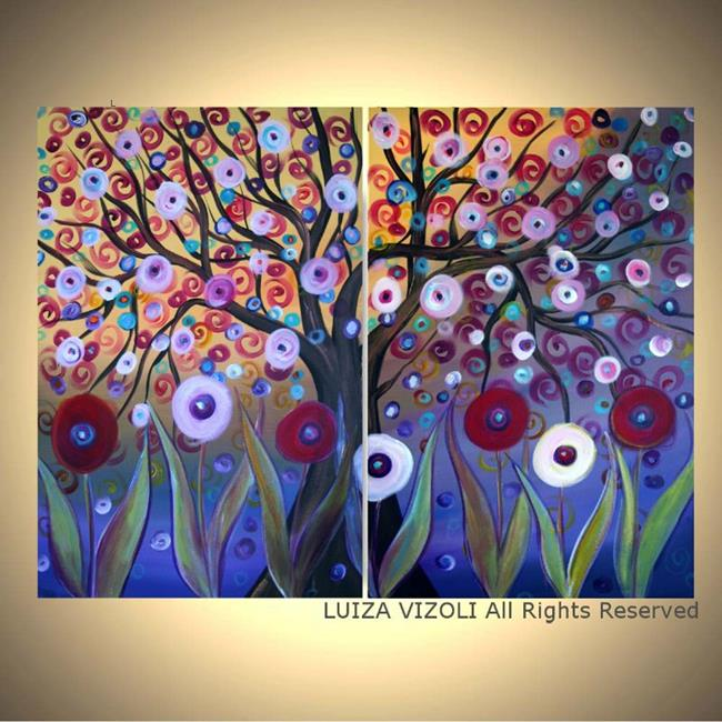 Art: MAGIC GARDEN-custom painting by Artist LUIZA VIZOLI