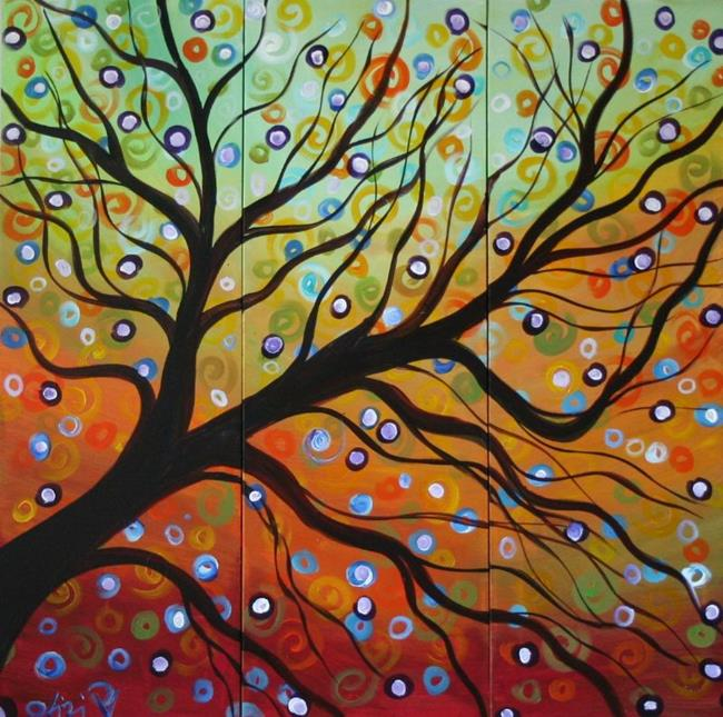 Art:  Serenity Custom Painting by Artist LUIZA VIZOLI