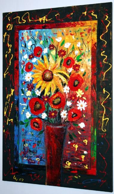 Art: TUSCANY FLOWERS by Artist LUIZA VIZOLI