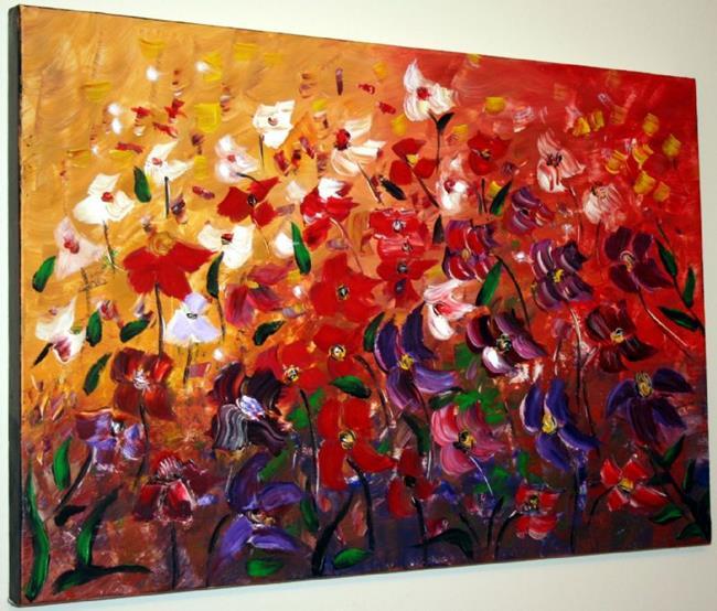 Art: FLOWERS IN THE WIND by Artist LUIZA VIZOLI