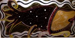 Art: INDIAN JOY FISH - FOR DAWSONS PLACE SNOHOMISH CO. WASHINGTON  by Artist Gina Hensel