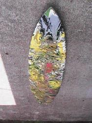 Art: PUNA TIC SURF BOARD by Artist Gina Hensel