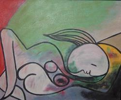 Art: Picasso nude by Artist Gina Hensel