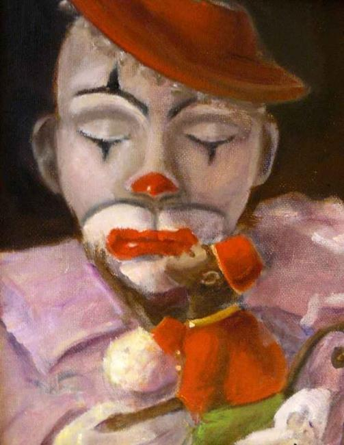 Art: A Clown and his friend by Artist Cheryl Hardy