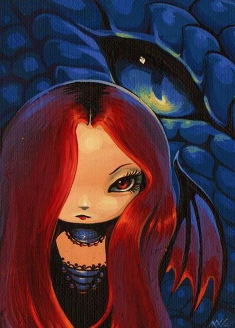 Art: Ember Drakonette by Artist Nico Niemi