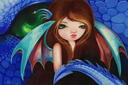 Art: Belle Blue Dakonette by Artist Nico Niemi