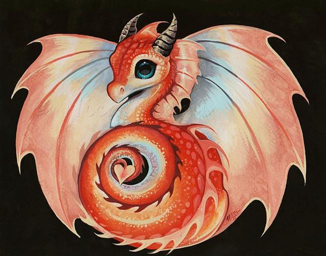 Art: Fire Dragonette by Artist Nico Niemi