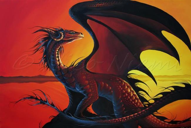 Art: Setting Sun Dragon by Artist Nico Niemi