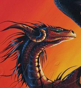 Detail Image for art Setting Sun Dragon