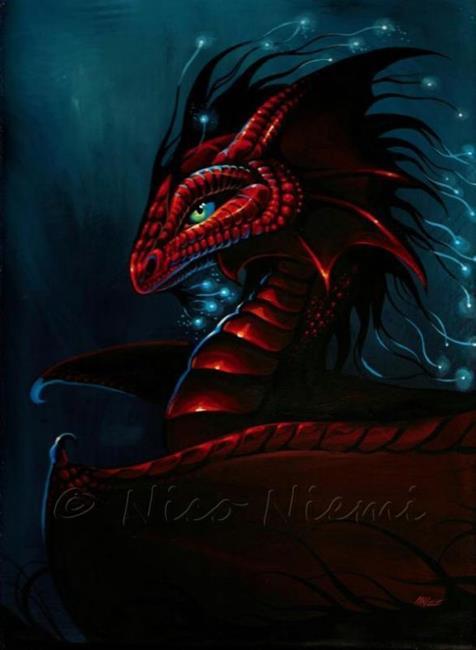 Art: Red Dragon Glow by Artist Nico Niemi