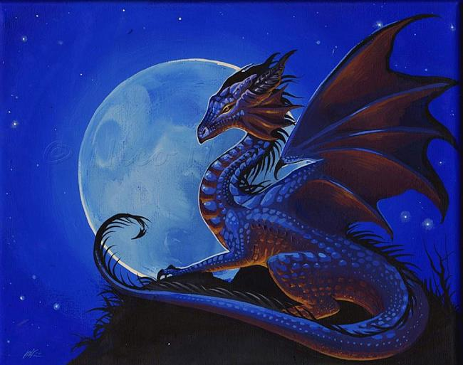 Art: Dragon Moon by Artist Nico Niemi