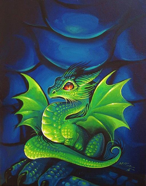 Art: New Emerald Dragonette by Artist Nico Niemi