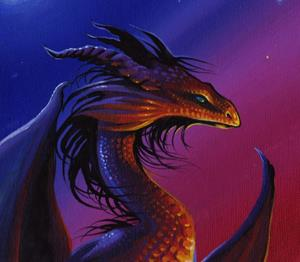 Detail Image for art Moonrise Sunset Dragon