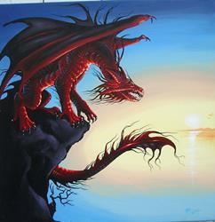 Art: Red Dawn by Artist Nico Niemi