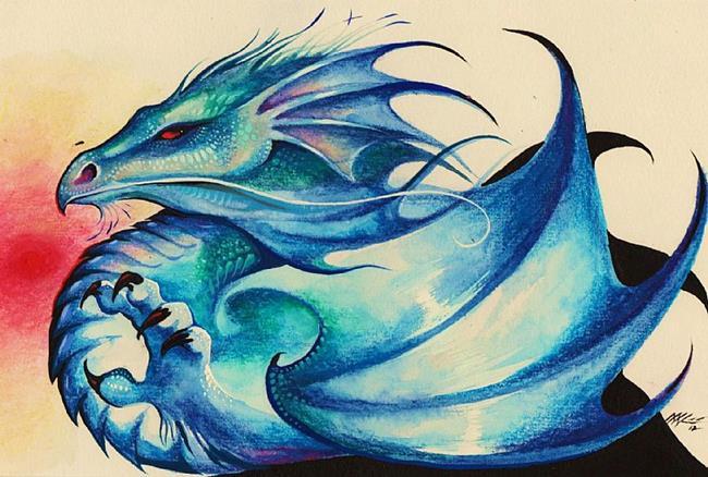 Art: Blue Dragon by Artist Nico Niemi