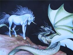 Art: Dragon and Unicorn by Artist Nico Niemi