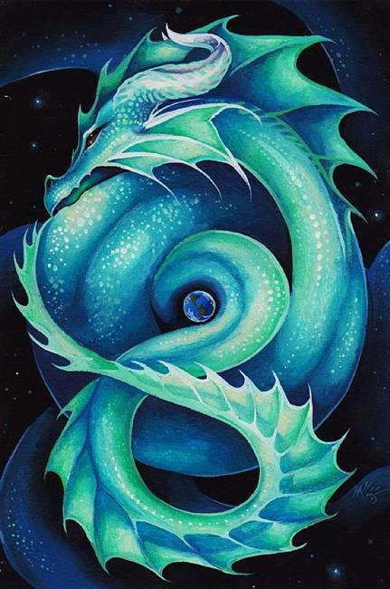 Art: Midgard Serpent by Artist Nico Niemi