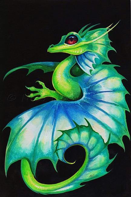 Art: Red Eyed Dragonette by Artist Nico Niemi