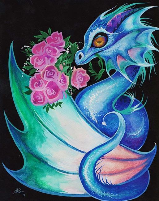 Art: Dragon's Roses by Artist Nico Niemi