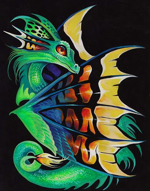 Art: Brightwing Dragonette by Artist Nico Niemi