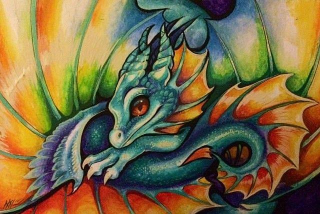 Art: Prismfire Dragonette by Artist Nico Niemi