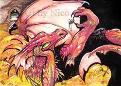 Art: Dragon Treasure by Artist Nico Niemi