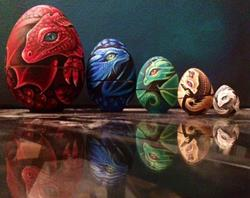 Art: Dragon Eggs by Artist Nico Niemi