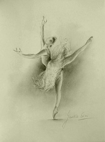 ballerina pencil drawing - photo #24