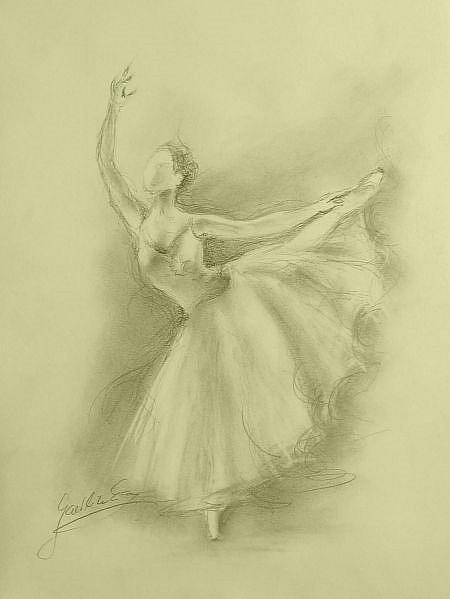 ballerina pencil drawing - photo #45