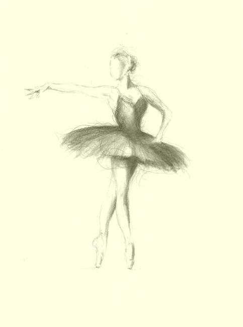 ballerina pencil drawing - photo #10