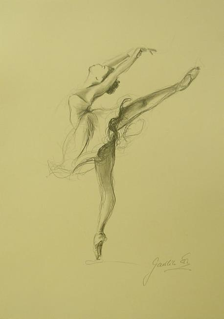 ballerina pencil drawing - photo #28