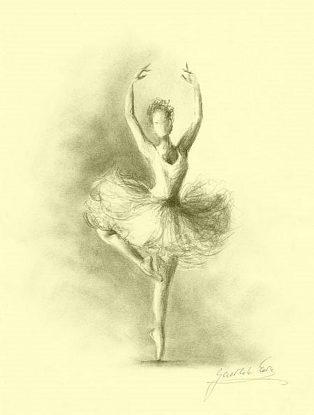 ballerina pencil drawing - photo #4