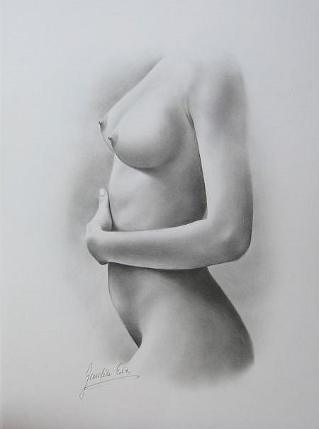 Female Nude - By Ewa Kienko Gawlik From Drawings Studies -7545