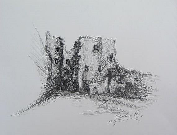 Art: Old Castle by Artist Ewa Kienko Gawlik