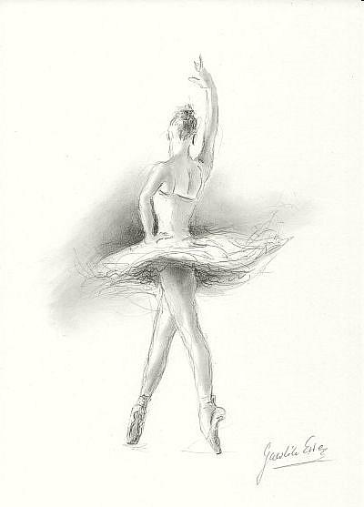 ballerina pencil drawing - photo #14