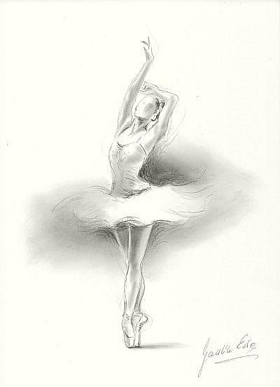 ballerina pencil drawing - photo #16