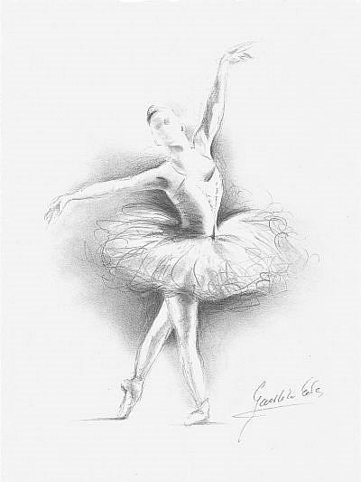 ballerina pencil drawing - photo #22