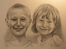 Art: Portrait of Children by Artist Ewa Kienko Gawlik