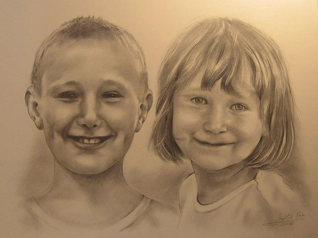 Art: Portrait of Children by Artist Ewa Kienko Gawlik