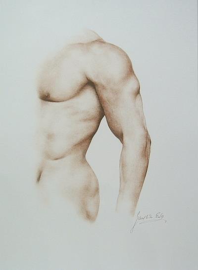 Art: Male Nude by Artist Ewa Kienko Gawlik