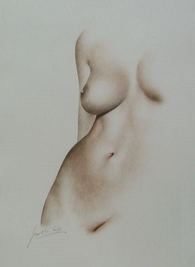 Art: Female Torso by Artist Ewa Kienko Gawlik