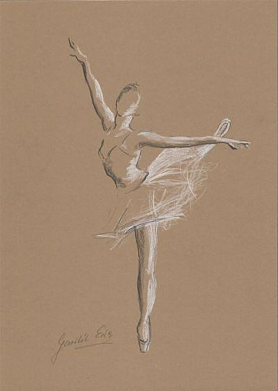 ballerina pencil drawing - photo #27