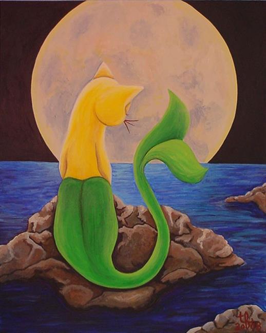Art: CatFish Moon by Artist Tina Marie Ferguson