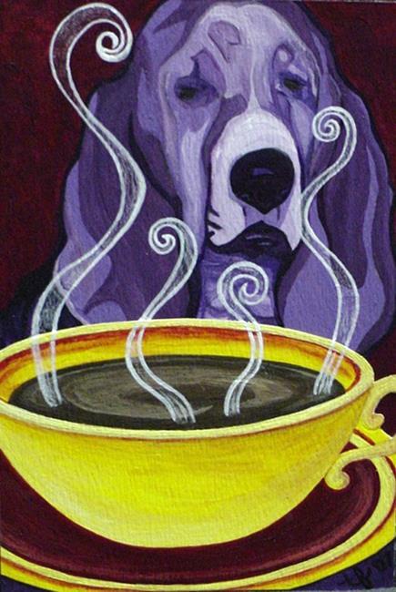 Art: Coffee Hound by Artist Tina Marie Ferguson